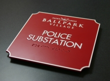 Photopolymer Police Substation Sign
