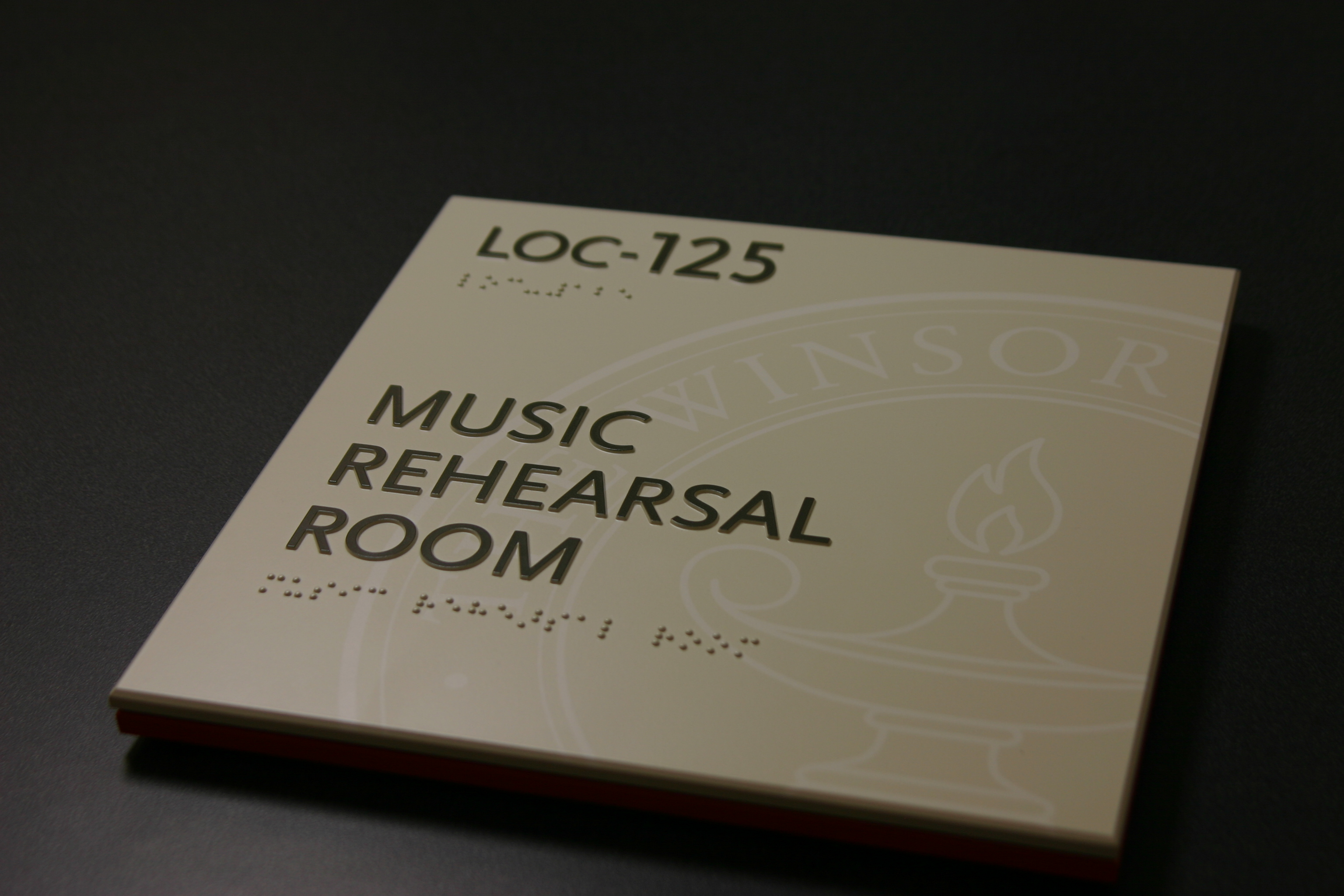 Photopolymer Music Room Sign