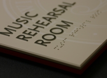 Photopolymer Music Room Sign Close