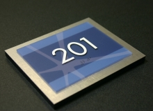 Photopolymer Room 201 Sign