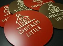 Custom Acrylic Chicken Little