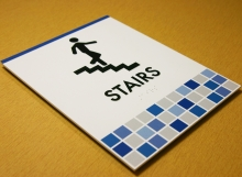 Photopolymer Stair Sign