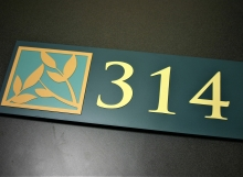 """.25"""" surface painted photopolymer material with multiple color tipped integral graphics and text."""